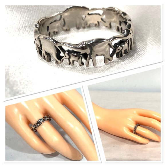 NWOT Sterling silver elephant ring